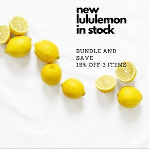 new lululemon in stock !!!! 🍋